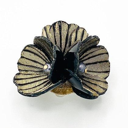 Broche Cilea 'Petra' Dorée noire