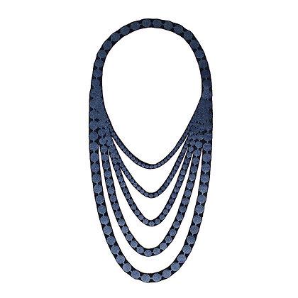 Collier Uli Rapp 'Pearl short' bleu foncé