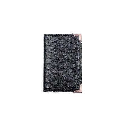 Porte-cartes Michael Guérisse O'Leary Python noir