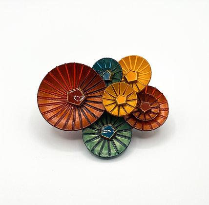 Broche Cilea 'Kyoto' multicolore