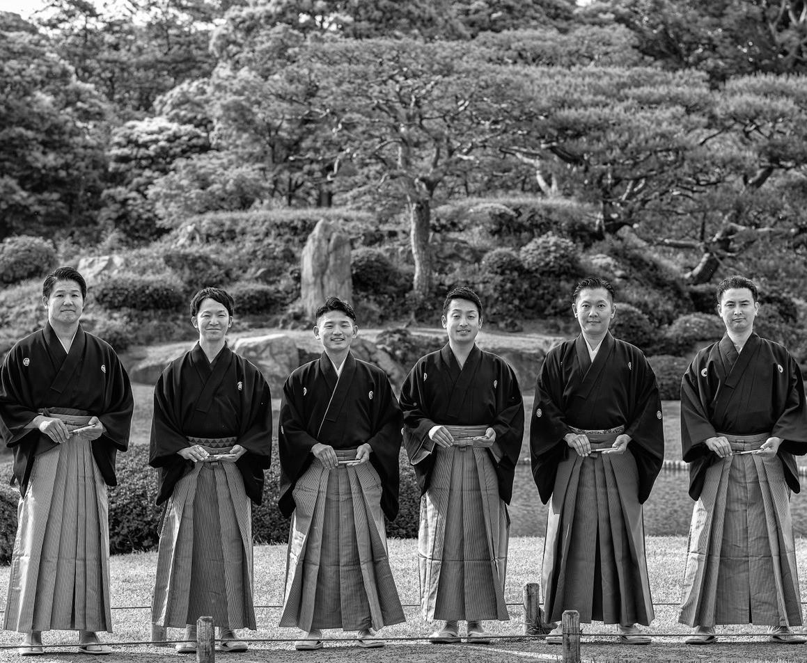tea ceremony in rikugien garden