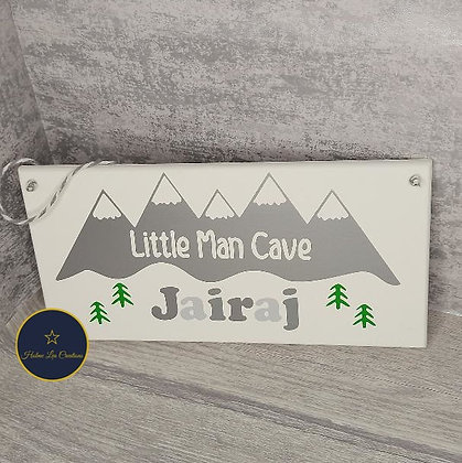 Little Man Cave Personalised Bedroom Sign