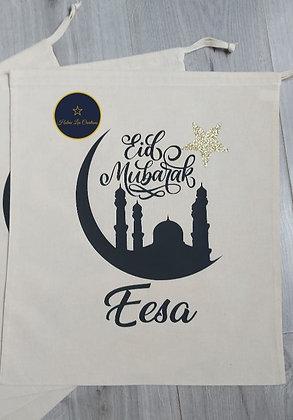 Personalised Eid Mubarak Bag