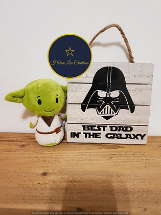 Best Dad in the Galaxy Wall Plaque