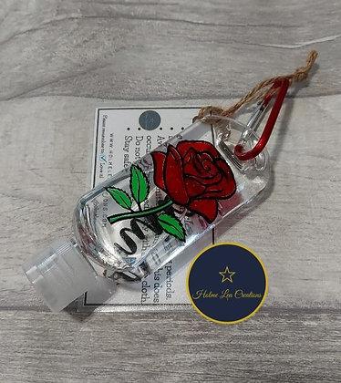 Rose Personalised Hand Sanitiser Bottle