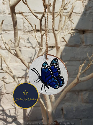 Unique Butterfly Wooden Hanging Decoration Slice