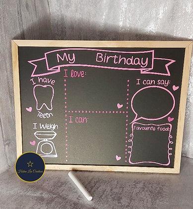 Birthday Celebration Chalk Board!