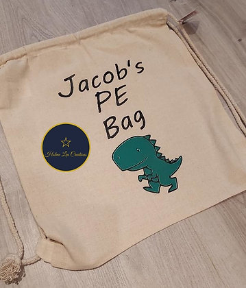 Personalised Draw String PE Bag