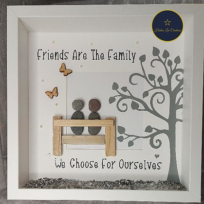 Friends AreThe Family We Choose For Ourselves Pebble People Frame