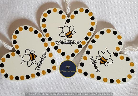 Bee Heart Plaques