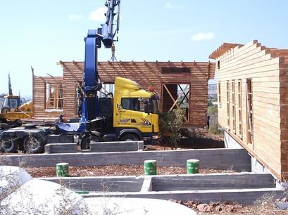 בית לוגים מעץ ארז