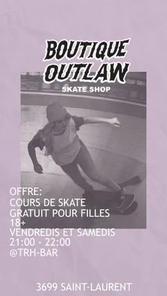 TRH-Bar x Outlaw Girls skate class
