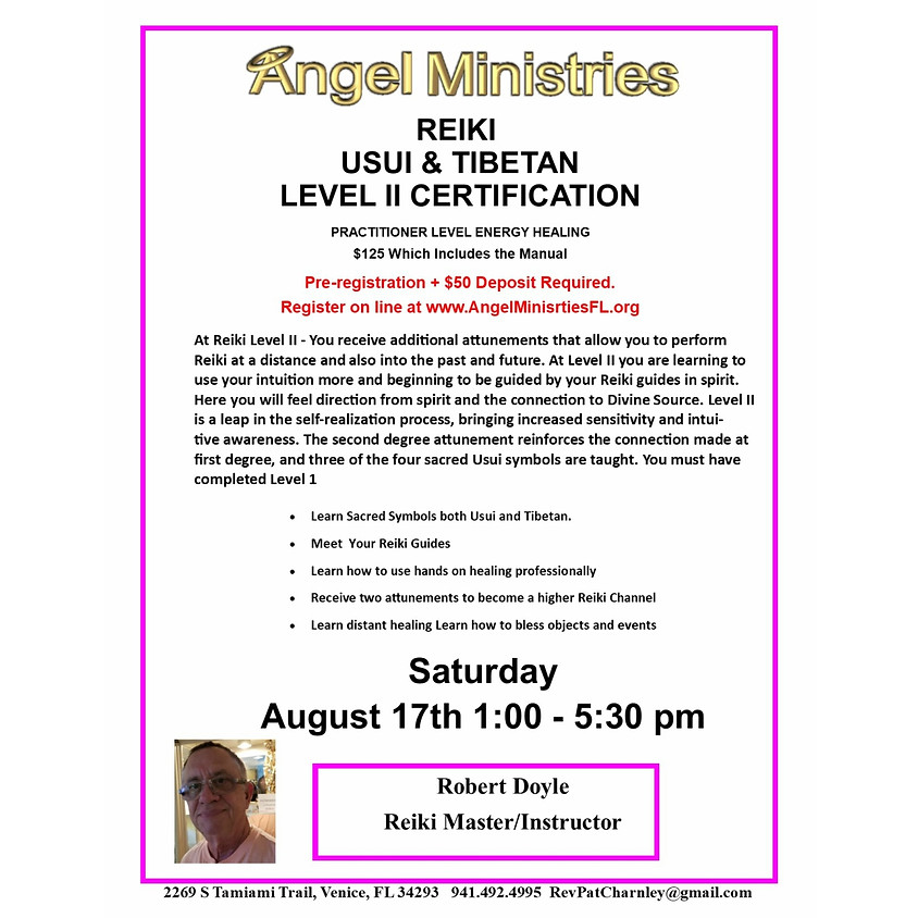 SOLD OUT - Reiki Level 2 - August 17th