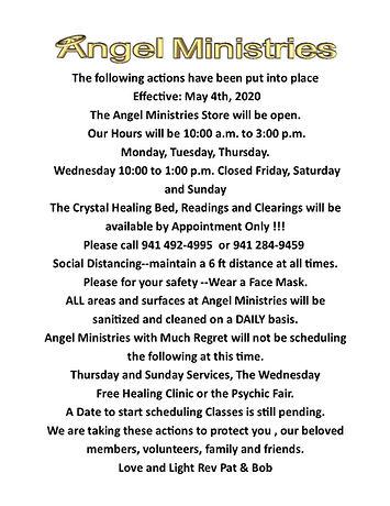 Angel Ministries COVID-19 Response  May