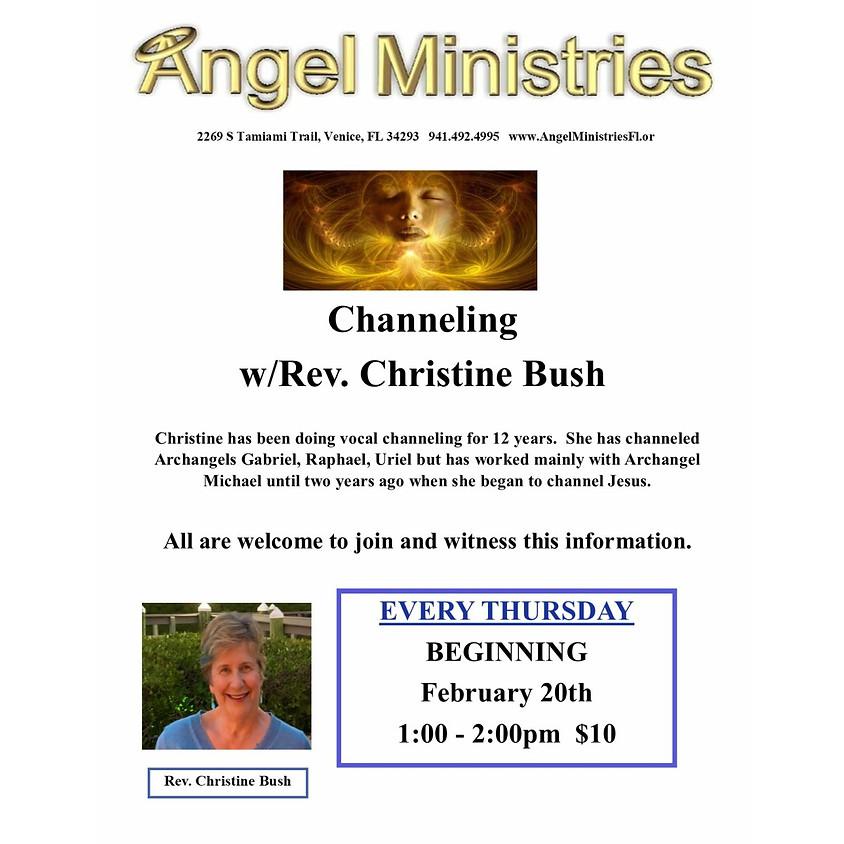 Channeling with Rev Christine Bush