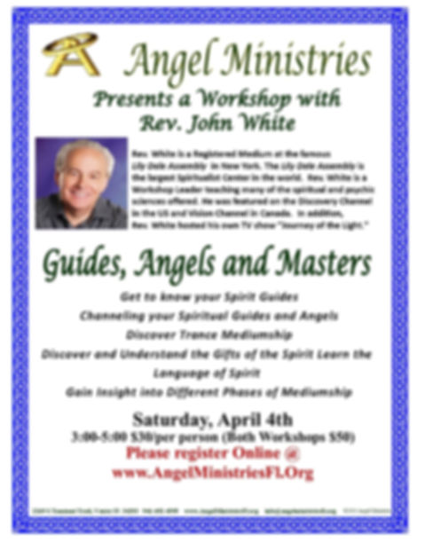 JOHN WHITE  - Guides Angels Masters 2020