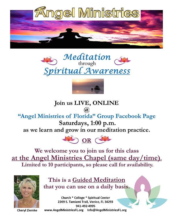 Flyer - Meditation for spiritual awarene