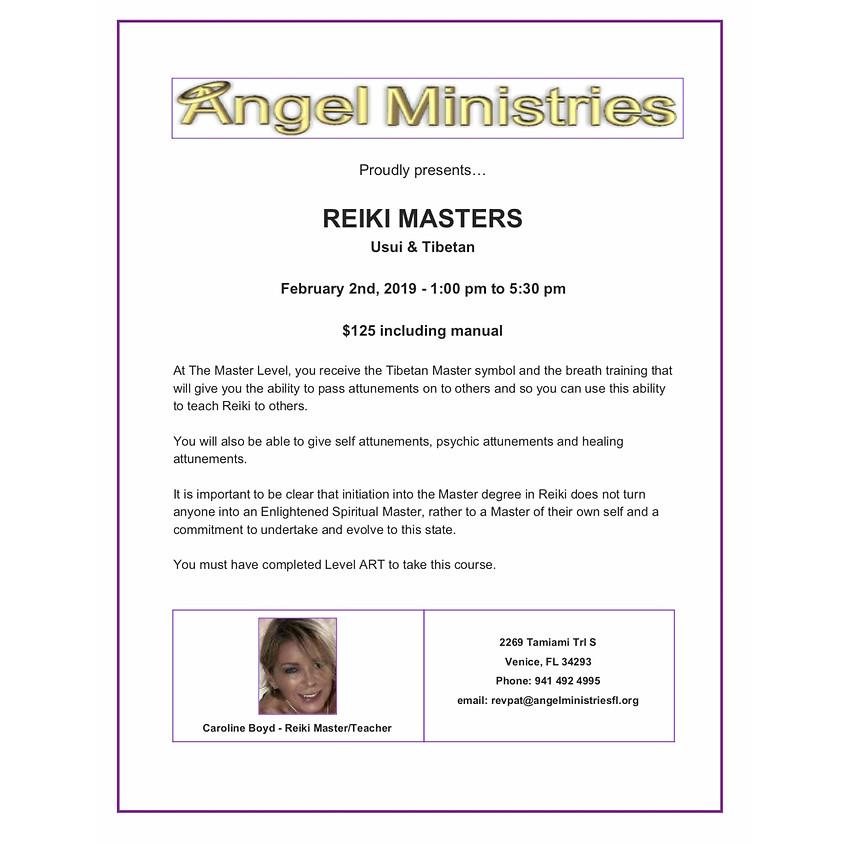 Reiki Masters Certification