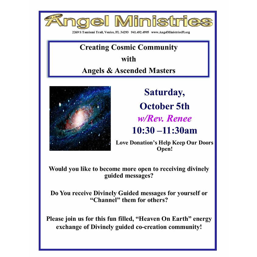 Creating Cosmic Community with Angels and Ascended Masters