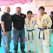World Oyama Tournament  -Shihan Wah, Shihan Cappa, Yun and Taka.