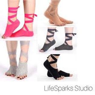 Ribbon Open Toe Anti-Slip Socks