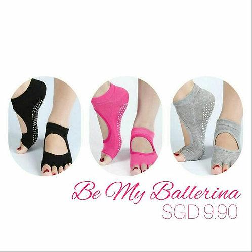 Ballerina Open Toe Anti-Slip Socks