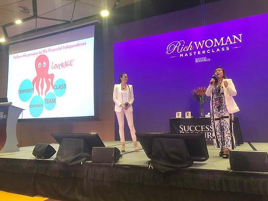 Sharing at Rich Woman Masterclass