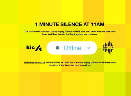 1 MINUTE SILENCE! 11AM