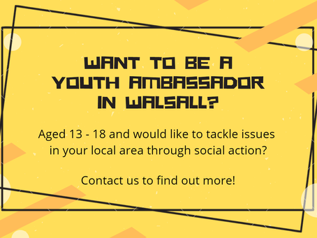 Want To Become A Walsall Youth Ambassador!