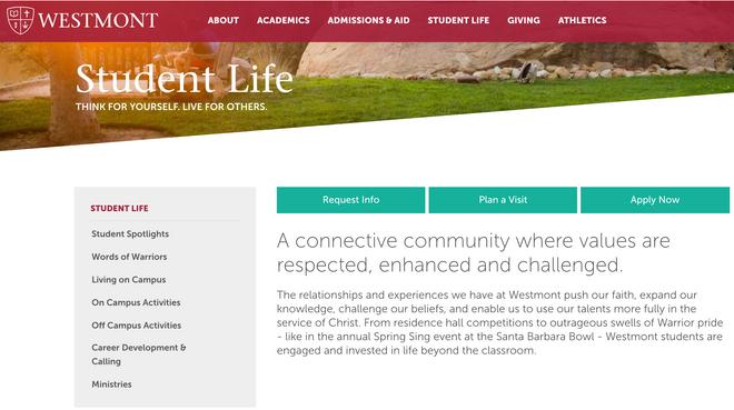 Westmont College Website