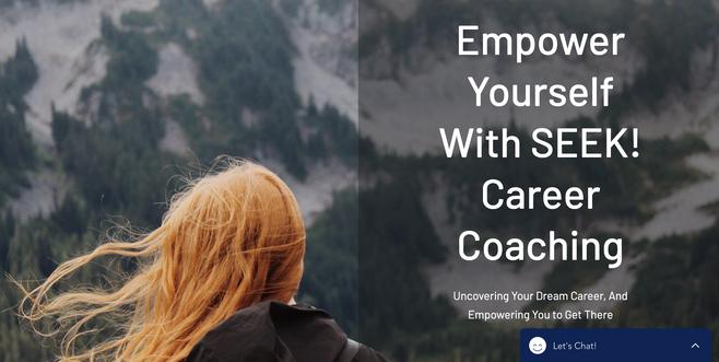 SEEK! Career Coaching web page design