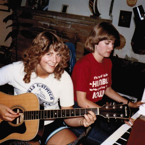 Jenny and Kathy, the dynamic duo!    c. 1981
