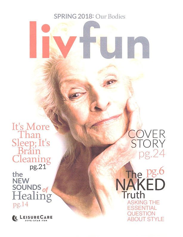 Cover of liffun magazine featuring Sound Healing article on Barbara Spaulding RN and Sound Therapy, Stuart and Palm City, FL