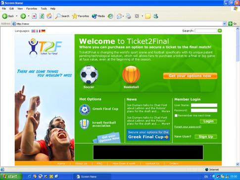 Ticket2Final Website