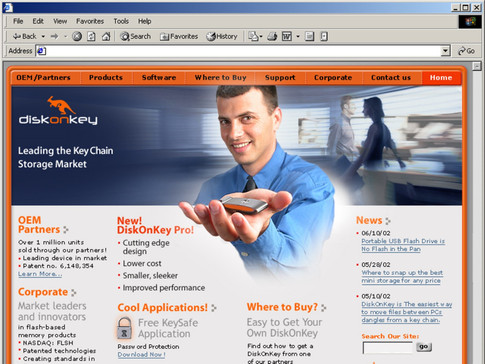 DiskOnKey official Website