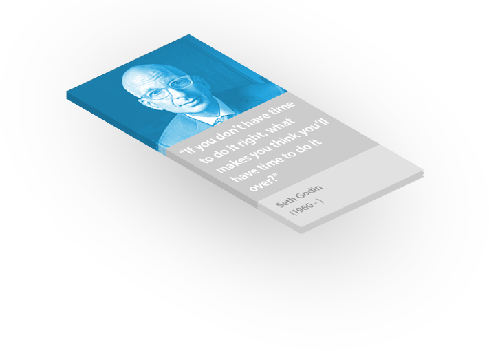 Seth Godin's Famous Quote