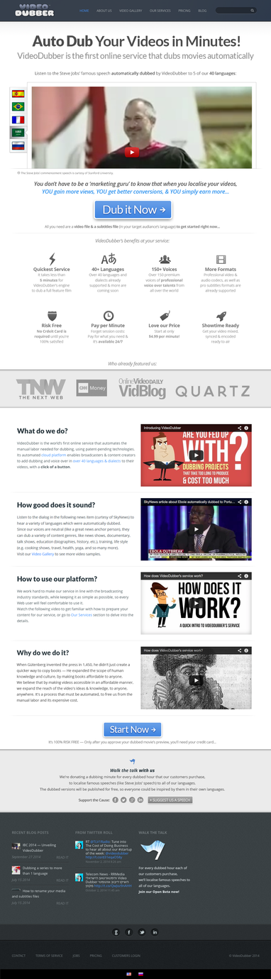 VideoDubber Website