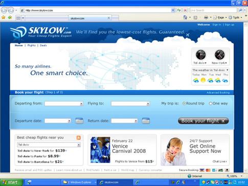 Skylow Web App