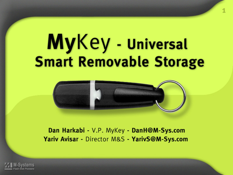 DiskOnKey pre-launch presentation