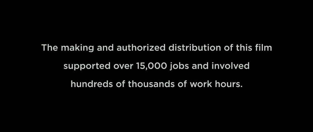 This movie created 15,000 jobs