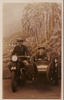 Coventry Eagle motorbike and sidecar by