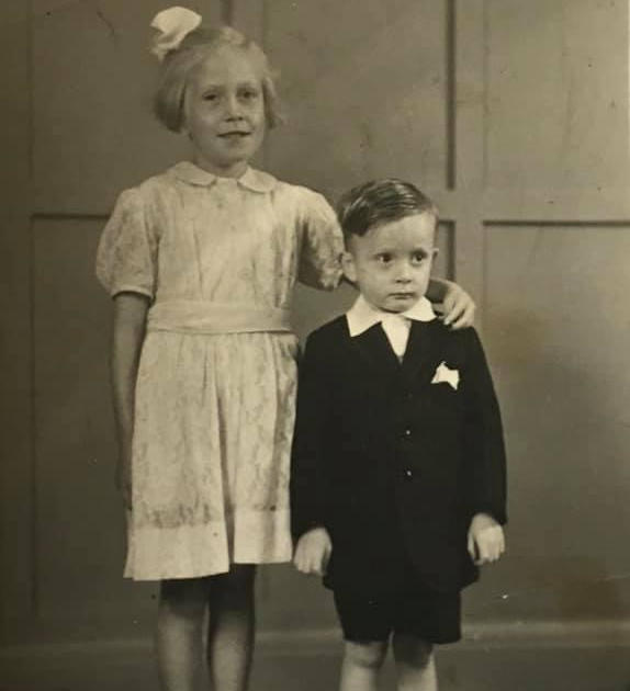 Dorothy Crossland and her brother Granville