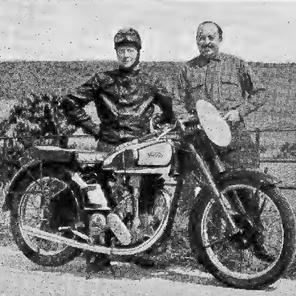 Alan Raynor, left, with John Mason