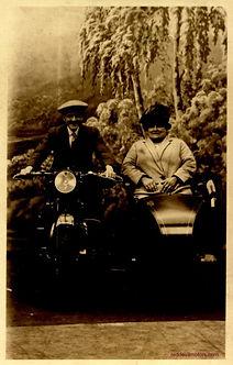 Coventry Eagle motorbike and sidecar stu