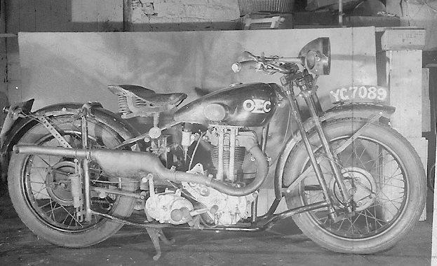 O.E.C. bike belonging to Jack Hughes