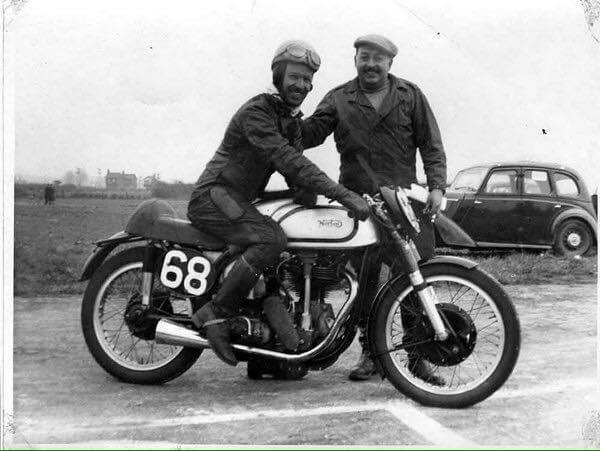 Frank Fox on his bike