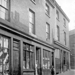 Chatham Street shops near the junction with Cross Chapel Street.  c1900-1919