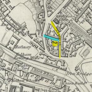1855 map Chapel Street