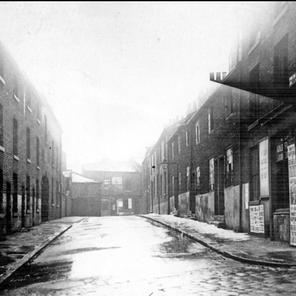 View along Swinton St. from Chatham St looking towards Pitsmoor Rd 1939.