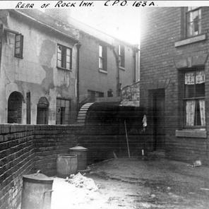 Rear of Rock Inn at 4 Pitsmoor Rd and corner of Chatham St 1939